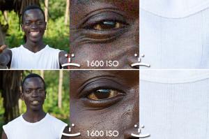 Foto scattate in Kenya nel 2008 in piena estate ad un soggetto con grandi differenze di stop tra le luci e le ombre. In situazioni come queste soggetti scuri (come il viso del kenyota) rischiano di incorrere nel rumore, mentre soggetti chiari (come la t-shirt che indossa) rischiano di bruciarsi e perdere dettagli. In situazioni come queste un'esposizione ottimale (studiata in base al sensore della propria fotocamera) permette di ottenere un'immagine nitida, priva di rumore e di perdita di dettagli anche a ISO elevati, perfino sulle aree più scure della foto.